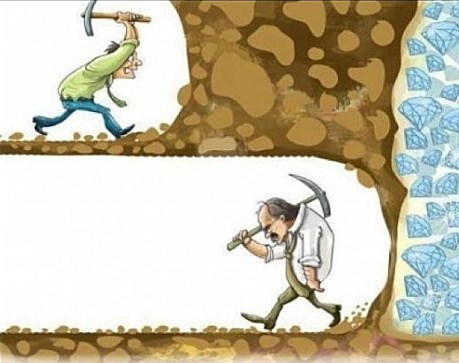 don't quit too soon